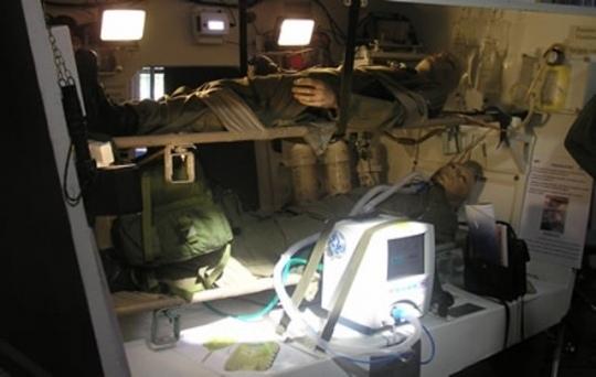 Интерьер танк-буланса