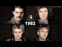 QUEEN WHAT HAPPENED Year to Year Face Transitions 1969 2019