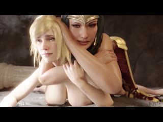 [3d animation] futa wonder woman gives cumshot anal to super girl by nyl