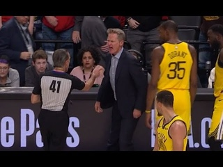 Steve Kerr Gets Ejected After Slamming Clipboard Over Controversial Call On Draymond