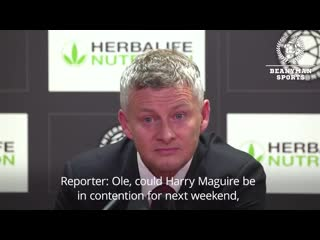 Ole gunnar solskjaer says pogba is staying and harry maguire could play in next weekends game