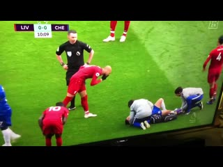 Fabinho doing something disgusting to eden hazard