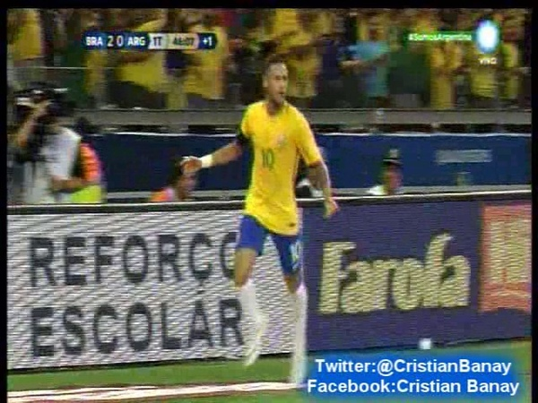 Brasil 3 Argentina 0 (Relato Mariano Closs) Eliminatorias a Rusia 2018