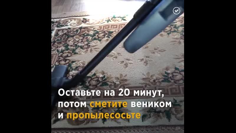 4 способа почистить ковёр дома