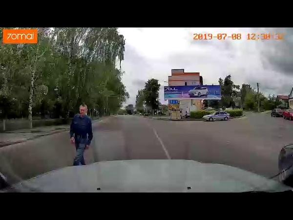 Пензенец уворачивается от грузовика