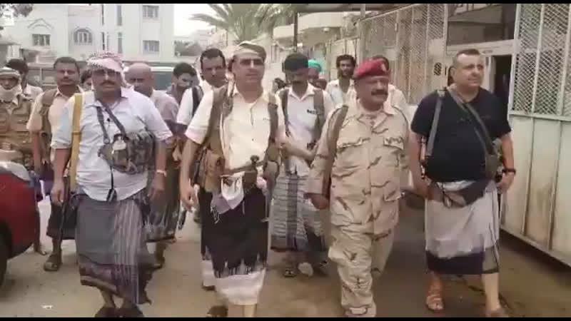 Командиры министры хадистов в Адене