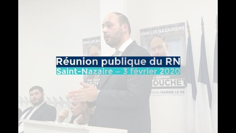 Municipales réunion publique avec Gauthier Bouchet et Edwige Diaz Saint Nazaire 03 02 20