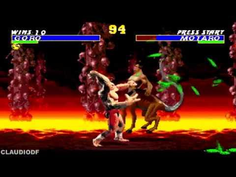 [TAS] Ultimate Mortal Kombat Trilogy hack | GORO MK1 (SEGA GENESIS)