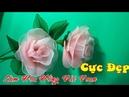 Làm Hoa Hồng Vải Voan Cực Đẹp