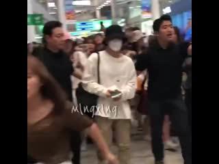 190809 #exo #baekhyun @ incheon -> hong kong airport