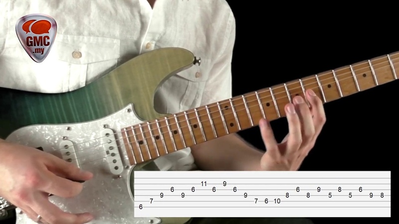 Extended Arpeggio Lick w/ tabs backing