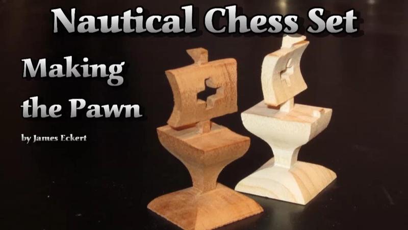 Nautical Chess Set Making the Pawn