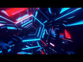 Neon tunnel animated (1080p60 video wallpaper)