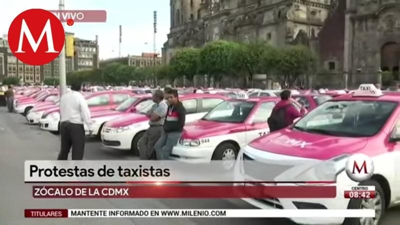 Protestas de taxistas provocan caos víal en la CdMx