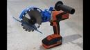 Sega circolare fai da te Drill hack homemade circular saw