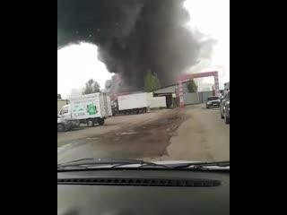 В Алматы произошел крупный пожар в районе барахолки.mp4