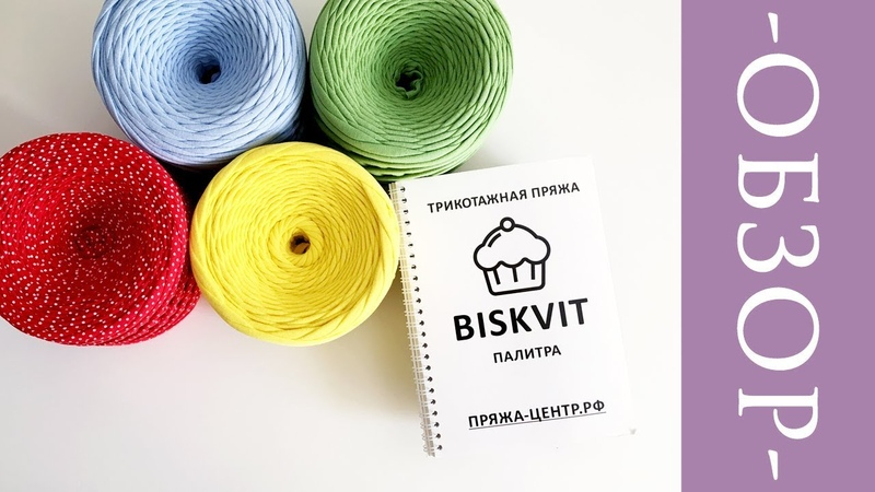 Трикотажная пряжа BISKVIT   Обзор палитры