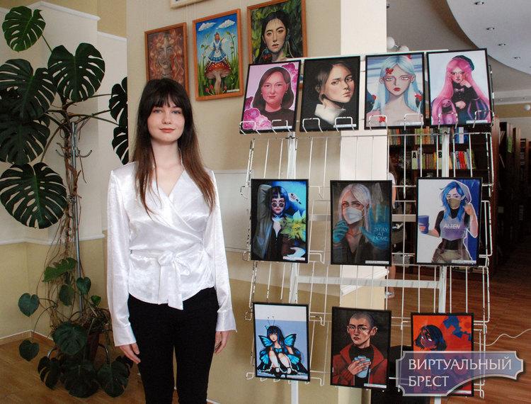 В Брестской городской библиотеке им. Пушкина открылась выставка юной художницы