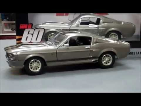 Gone in 60 Seconds Eleanor 1967 Custom Grey Ford Mustang 1 24 Scale Diecast Model