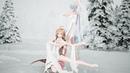 洛天依♡乐正绫 - 你我牵手踏雪。披一身白雪、裹满头银花,惬意中的滑386