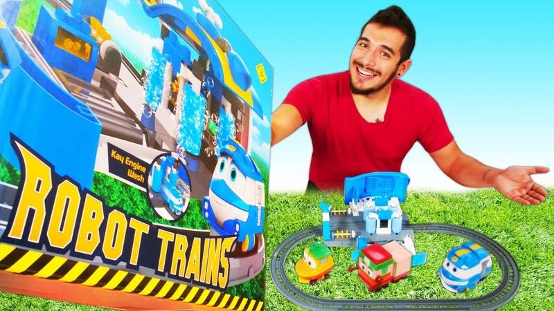 Desempaquetamos un ferrocarril de juguete Robot Trains Coches de juguete Vídeos para niños