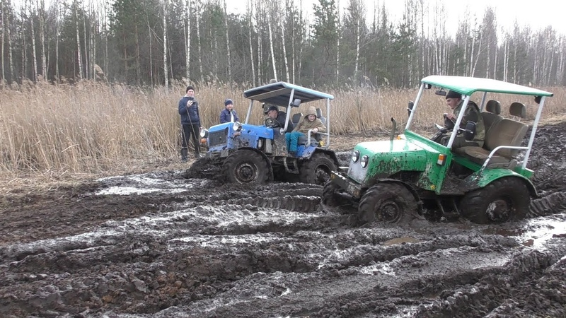 Самодельные трактора 4x4 на бездорожье Тракторный Off Road