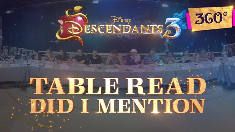 Did I Mention Table Read Behind the Scenes Descendants 3