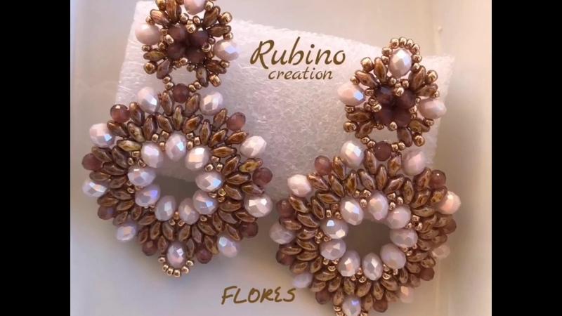 Tutorial orecchini Florès con superduo e cipollotti