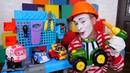 Reparação dos veículos de serviço O mestre Palhaço Vídeos de brinquedos para crianças