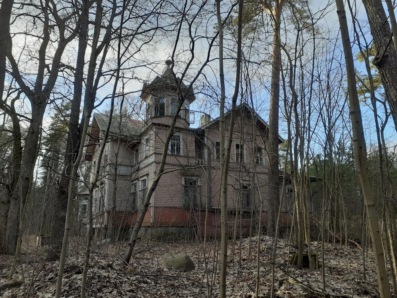 Заброшенная старинная усадьба Заец-Окессона на окраине Зеленогорска
