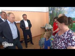 Президент России Владимир Путин пообщался с Матвеем Николаевичем в Тулуне.