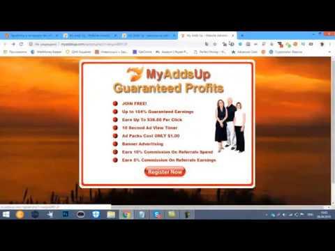 MyAddsUp заработок на кликах дорогая оплата!