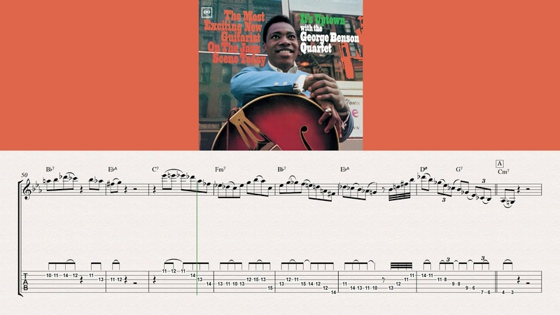 Myna Byrd Blues George Benson Solo Transcription