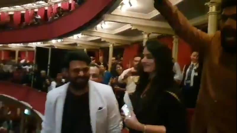 The Crowd goes Crazy as they Notice Prabhas