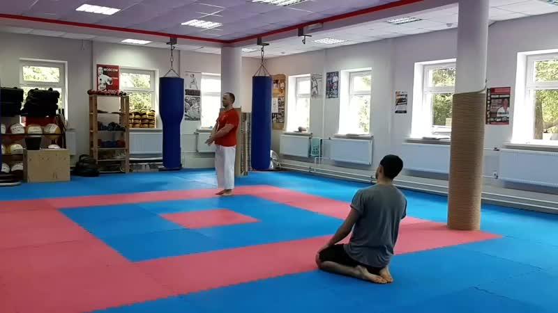 Sepai kata in Higaonna karate Dojo Russia..mp4
