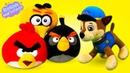 Angry birds et la Pat' Patrouille Vidéo drôle avec le mime