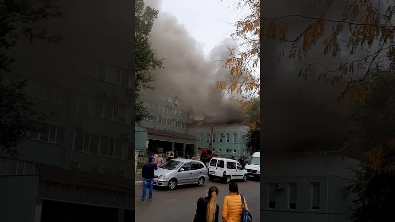 Incendiu pe o stradă din capitală