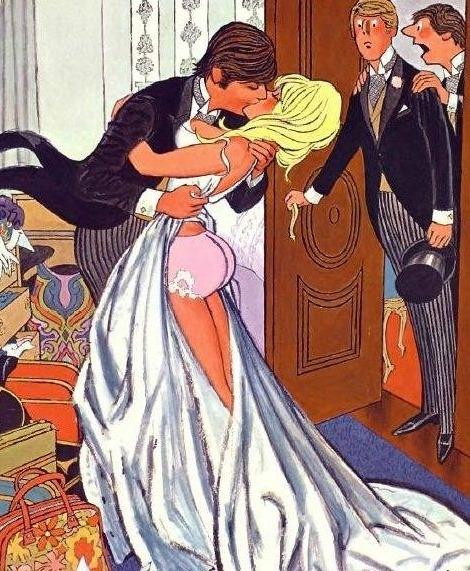 Эй! Тебе ведь говорили, что увидеть невесту до начала церемонии  плохая примета!
