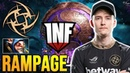 ACE Meepo GOD First Time On The International 2019 - RAMPAGE !! NIP vs INFAMOUS - TI9 DOTA 2