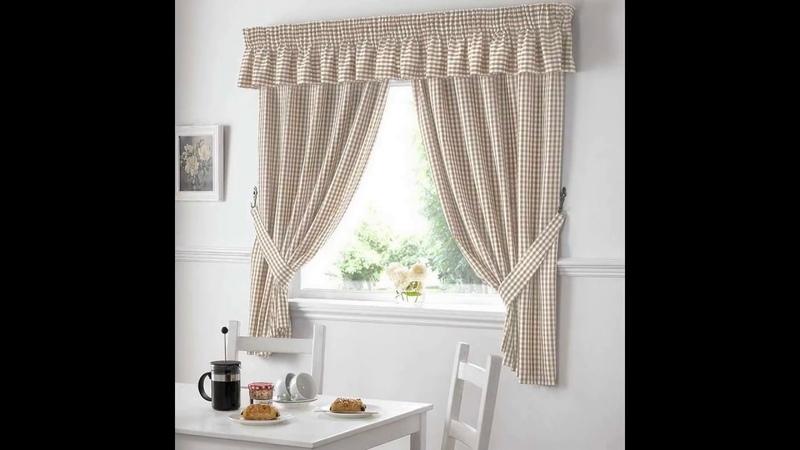 Шикарное оформление окон на кухне. Curtains in the kitchen.