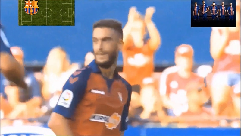Ла Лига 3 тур Осасуна-Барселона 22. обзор на русском.1 гол Ансу Фати за 1 команду. 31.08.19