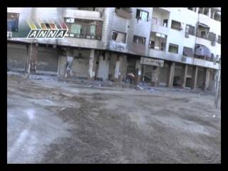 Трупы иностранных боевиков на улицах Дарайа.