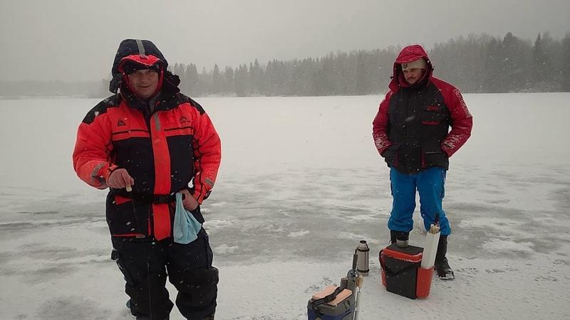 Снова ищем зиму Ловим окушка Рыбалка с физруком