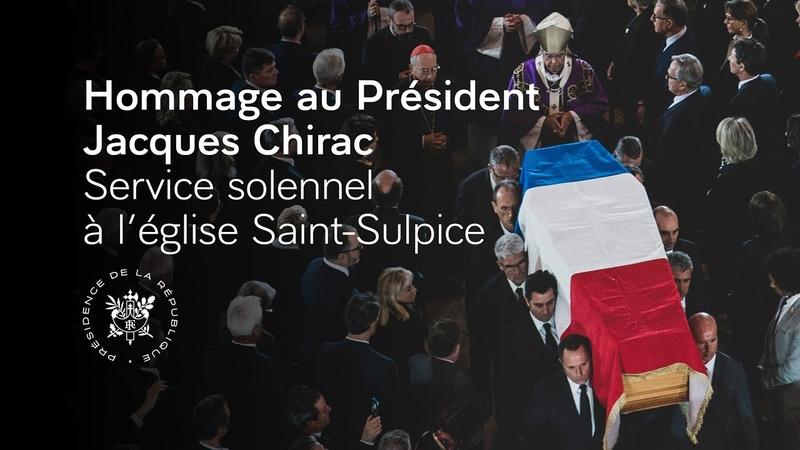 Service solennel à l'intention du Président Jacques CHIRAC en l'église Saint Sulpice