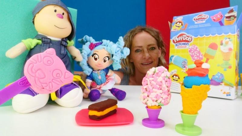 Play-Doh mutfak seti. Oyuncaklar için dondurma yapıyoruz