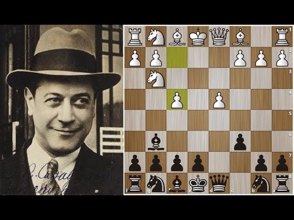 Х.Р. Капабланка простыми ходами наказал комбинатора за слишком агрессивную игру в дебюте! Шахматы.