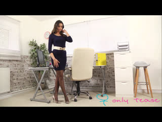 Sexy secretary abigail b strips new [panties dress lingerie erotica nylons pantyhose