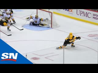 Marc-andré fleury stretches out to make amazing save against penguins (720p)