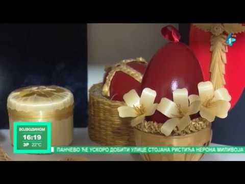 Kirbusi ukrašavaju uskršnja jaja slamom