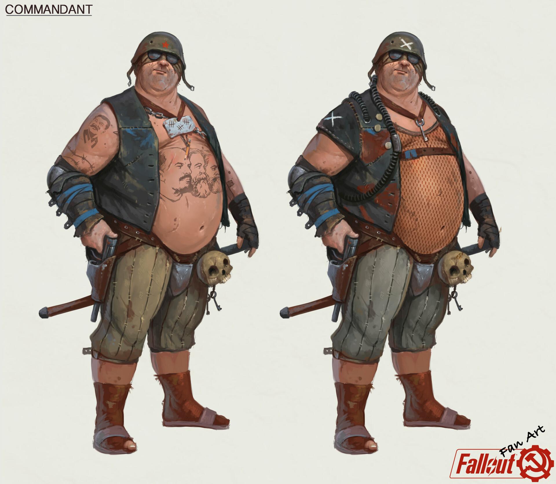 А вот еще пару работ Tony Sart на тему СССР во вселенной Fallout